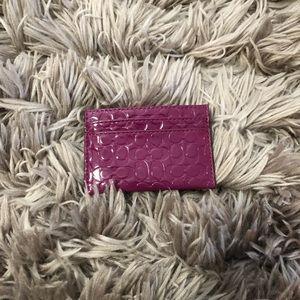 Pink Coach Card Case